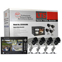 Lasertech 4-Channel Security Camera System with Four Night Cameras